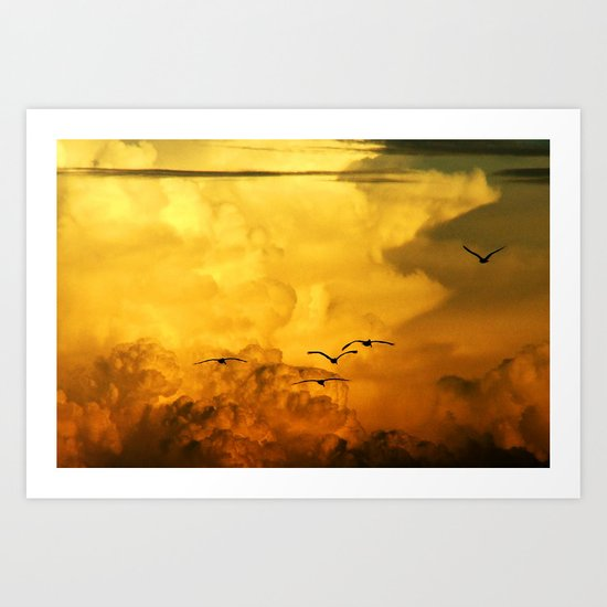 Flight at the Golden Hour Art Print
