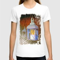 lanterns T-shirts featuring White lanterns by LaDa