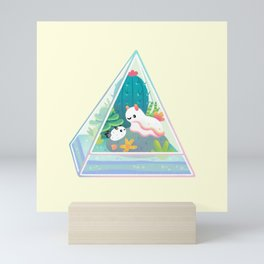Ocean terrarium - Sea slug Mini Art Print