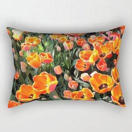 Red Tulips of Istanbul Rectangular Pillow
