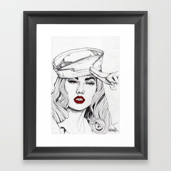 Sailor Girl 2 Framed Art Print