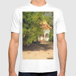 Buddhist Temple on the Mekong River Bank, Laos T-shirt