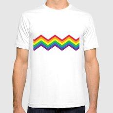 Rainbow 1 Mens Fitted Tee White MEDIUM