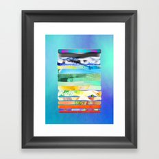 COLLAGE LOVE - a Princess and a pea  Framed Art Print
