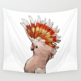 Pink Cockatoo Wall Tapestry