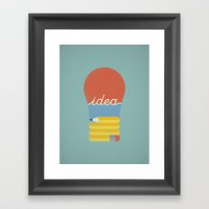 I've Got An Idea Framed Art Print