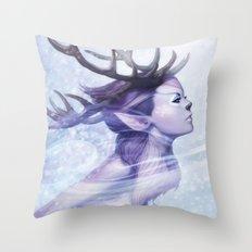 Deer Princess Throw Pillow