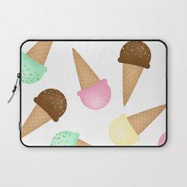 Ice Cream Pattern Laptop Sleeve