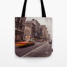 A Yellow Cab In SoHo Tote Bag