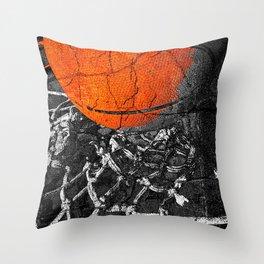 Basketball Art, Sports Artwork Throw Pillow