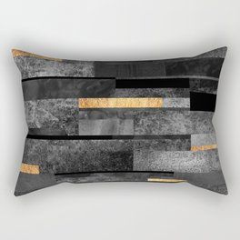 Urban Black & Gold Rectangular Pillow