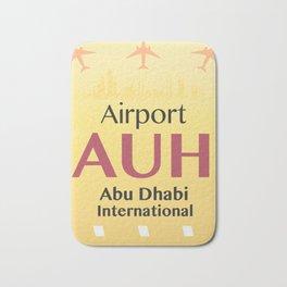 AUH Abu Dhabi airport code Bath Mat