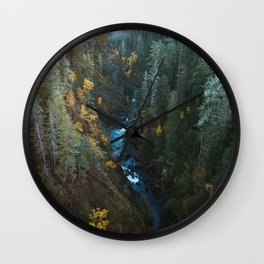 Valley of Fall Colors Wall Clock