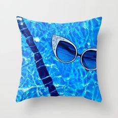 Paper Sunglasses Throw Pillow