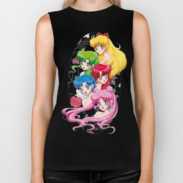 Sailor Senshi - Uncovered (Original Color Edition) Biker Tank