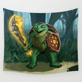Turtle Paladin Wall Tapestry