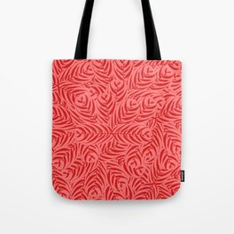 Tropical Leaves Pattern (Red version) Tote Bag