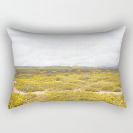 Mega Bloom Central California, Carrizo Plain National Monument 2 Rectangular Pillow