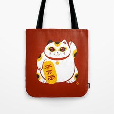 Lucky Cat 2 Tote Bag