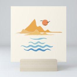 Minimalistic Summer III Mini Art Print