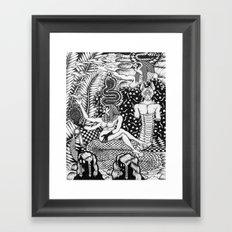 Egyptian Tsunami Curse  Framed Art Print