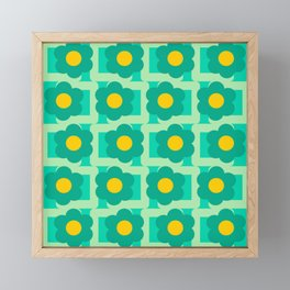 Green vintage pattern Framed Mini Art Print
