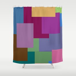 Squares, so many squares Shower Curtain