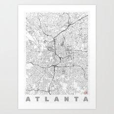 Atlanta Map Line Art Print