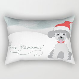 merry christmas with cute puppy Rectangular Pillow