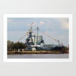 Full Dressed Battleship Art Print