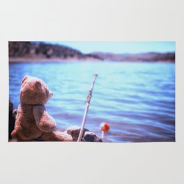 Have you ever seen a bear fishing? Rug