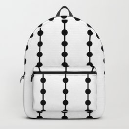 Geometric Droplets Pattern Linked Backpack