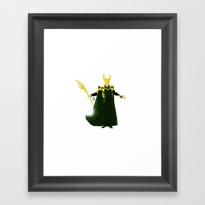 Loki Minimalist Poster Framed Art Print By Loweakgraph Society6