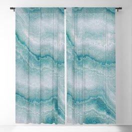 Sea green marble texture Blackout Curtain