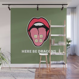 Here Be Dragons Wall Mural