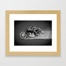 The Motorcycle Dust Devil Framed Art Print