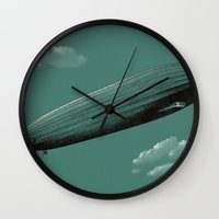 led zeppelin Wall Clocks featuring Zeppelin by Florent Bodart / Speakerine