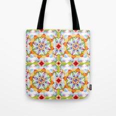 Flower Garden Kaleidoscope Tote Bag