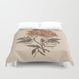Peony and Ferns Duvet Cover