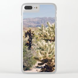 Joshua Tree Cactus Garden Clear iPhone Case