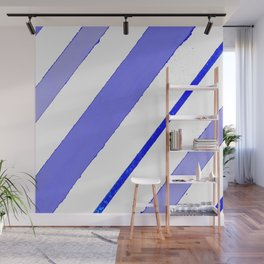 Blue lines and spots Wall Mural