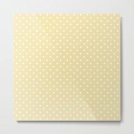 Dots (White/Vanilla) Metal Print