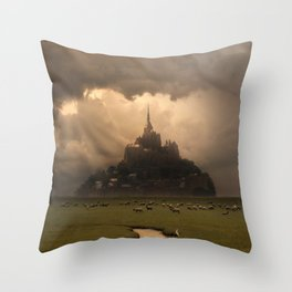 Abby in the afternoon sun Throw Pillow