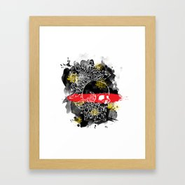 Ink Skull Framed Art Print