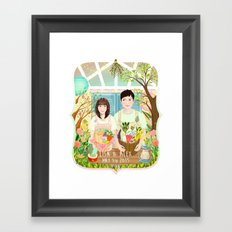 Wedding invitation design for Lisa and Alex Framed Art Print