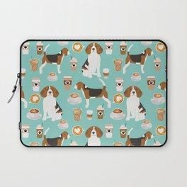 Beagle coffee print cute dog beagles coffees lattes Laptop Sleeve