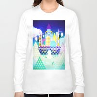 castle in the sky Long Sleeve T-shirts featuring Castle in the Sky by Alexander Pohl