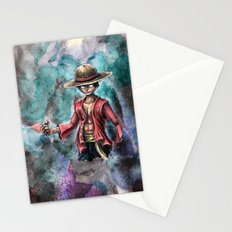 The King of Pirates a Tra-Digital Portrait Stationery Cards