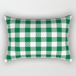 Green Vichy Rectangular Pillow