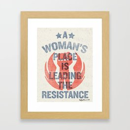 Leading the Resistance Framed Art Print